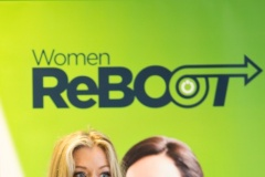 Alison Tighe, Women ReBOOT graduate now working with Datalex, addresses the Women ReBOOT Dublin Autumn 2017 graduation event, 12 July 2018