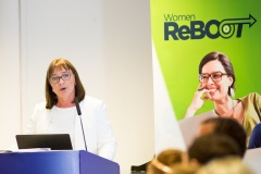 Maire Hunt, Network Director, Software Skillnet, speaks at Women ReBOOT Dublin Autumn 2017 graduation event, 12 July 2018